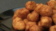 Recette des pommes dauphines aux lardons - Gourmand
