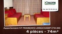 A vendre - ST FRANÇOIS LONGCHAMP (73130) - 4 pièces - 74m²