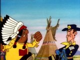 Le 20ème de cavalerie - Les Cheyennes ont rompu le traité autorisant la libre circulation des blancs sur leur territoire. En effet, des bisons ont été chassés. Lucky Luke est envoyé pour trouver une solution à la crise.