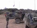 Tir de Famas : Armee française.