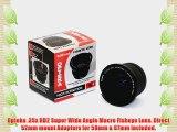 Opteka .35x HD2 Super Wide Angle Panoramic Macro Fisheye Lens for Canon GL2 GL1 MiniDV Digital