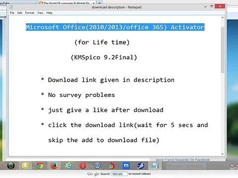 Microsoft Office(2010_2013_office 365) Activator(December 24)