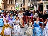 Valencia Las Fallas, Ofrenda de flores a la Virgen 2015