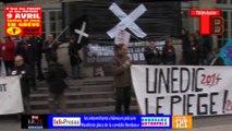 Télévision-Bordeaux-33 Rassemblement des intermittents et chômeurs précaire place de la comédie Bordeaux.
