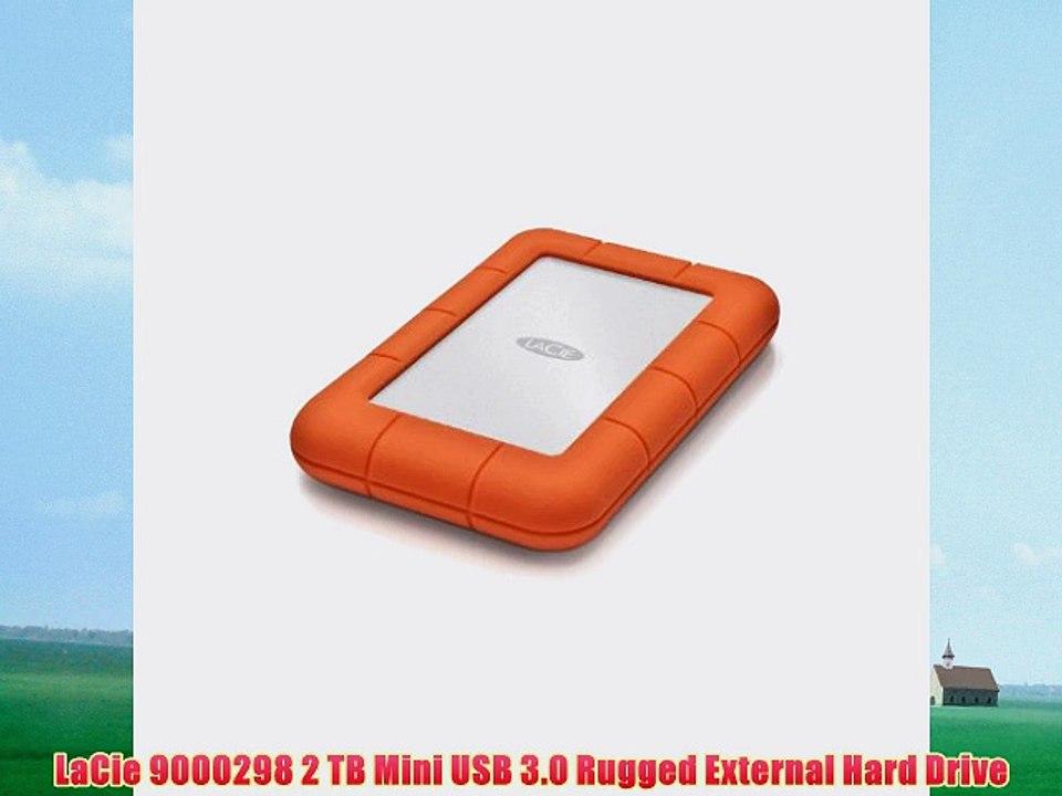 LaCie Rugged Mini USB 3.0 USB 2.0 2TB External Hard Drive 9000298
