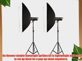 Neewer Set of Two(2) 800W Photography Monolight Softbox Kit includes (2) 400W 110V Digital