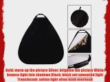 CowboyStudio Photography Photo Portable Grip Reflector 48inch 5in1 Triangle Collapsible Multi