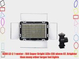 ILED Ultra Bright 160 Daylight On-Camera Dimmable LED Video Light