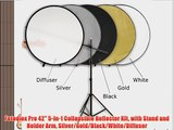 Fotodiox Pro 42 5-in-1 Collapsible Reflector Kit with Stand and Holder Arm Silver/Gold/Black/White/Diffuser