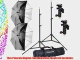 Polaroid Pro Studio Digital Flash Umbrella Mount Kit Includes: Two (2) Air-Cushioned Heavy