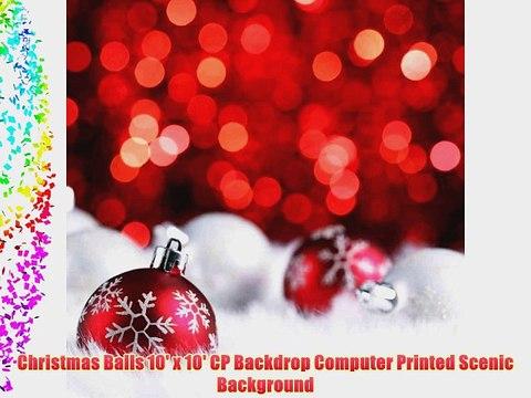 Christmas Balls 10 X 10 Cp Backdrop Computer Printed