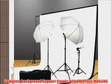 ePhoto Continuous Photography Video Studio Digital Lighting Kit 3 Point Lighting Kit with Muslin