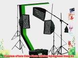 ePhoto 2400 Watt Digital Video Continuous Softbox Boom Hair Lighting Kit with 3pcs Black White