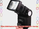 Vivitar 285HV Flash for Pentax K20D K10D K110D K100   Free Lens Cleaning Kit