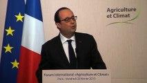 07. Agriculture et changement climatique - 20.02.15 - François Hollande