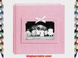 Pioneer Photo Albums 200-Pocket Gingham Fabric Frame Cover Photo Album for 4 by 6-Inch Prints