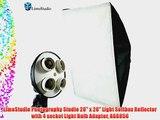 LimoStudio Photography Studio 20 x 28 Light Softbox Reflector with 4 socket Light Bulb Adaptor