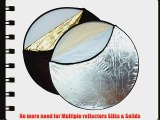 Opteka 43-Inch 5-in-1 Collapsible Disc Reflector Translucent White Black Silver Gold with Carrying