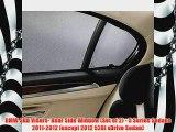 BMW Sun Visors Rear Side Window Set of 2 5 Series Sedans 20112012 except 2012 528i xDrive Sedan