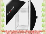 Fotodiox Flash-1280-Kit-Nik 12 x 80 Inches Softbox with Soft Diffuser and Speedring Bracket
