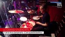 Cali & Arno Santamaria - C'est quand le bonheur - live - Le grand studio RTL - Mars 2015