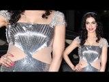 Divya Khosla Hot Shiny Silver Gown !!