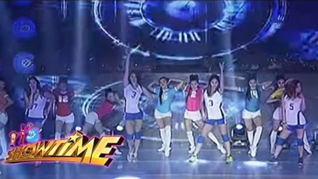 UAAP Athletes from Ateno, La Salle, FEU at NU performs on It's Showtime