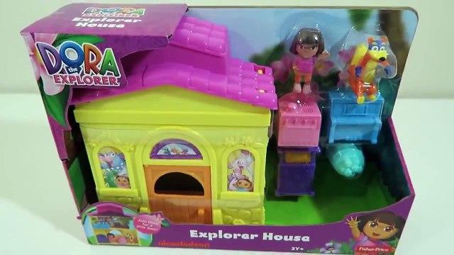 [ToyReview] Dora the Explorer   Dora's Explorer House Playset with Swiper & Shopkins Desserts!