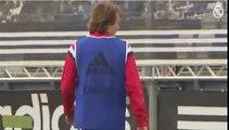 Golazo de Modric a Casillas Luka Modric great goal Casillas Training Real Madrid