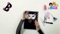 Mascara carnaval ANTIFAZ GATO - Videos de manualidades MASCARAS CARNAVAL