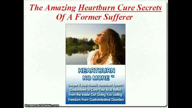 Heartburn No More – Natural remedy for heartburn