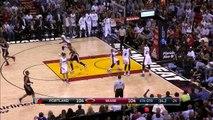 Dwyane Wade's Clutch Bucket - Blazers vs Heat - March 18, 2015 - NBA Season 2014-15