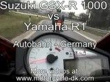 Moto-Yamaha R1 vs Suzuki GSX-R 1000