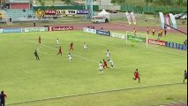 Trinidad & Tobago U20 player elbows another player in the face and then holds his own face