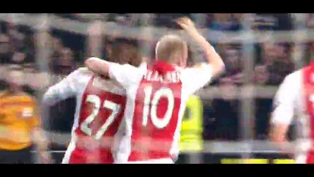 Goal Bazoer - Ajax 1-0 Dnipro - 19-03-2015