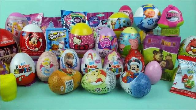 35 surprise eggs Shopkins Disney toys Masha i Medved LPS Frozen Hello Kitty by Surprise Co