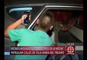 """""""Los caballeros de la noche"""" capturaron a ladrón en Villa María del Triunfo"""