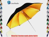 LimoStudio 52 Wide 2 Layer Black and Gold Umbrella Reflector Diffuser Photo Video Umbrella