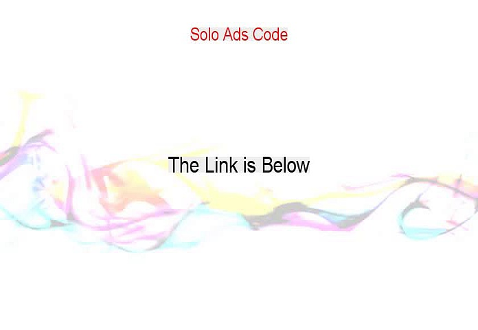 Solo Ads Code Review (Solo Ads Codefree solo ads promo codes)