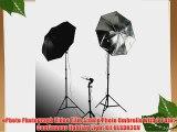 ePhoto Photograph Video Film Studio Photo Umbrella with 3 Point Continuous lighting Light Kit