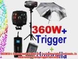 NEEWER? Photography Studio Kit - 2 x Strobe Lights 2x Stands 2x Umbrellas