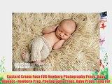 Custard Cream Faux FUR Newborn Photography Props Baby Blanket - Newborn Prop Photography Props