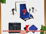 Polaroid Photo Studio Light Tent Kit Includes 1 Tent 2 Lights 1 Tripod Stand 1 Carrying Case