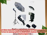 Photo Studio Portable Hot Shoe Flash Umbrella Stand Kit with Flash and Wireless Remote Trigger