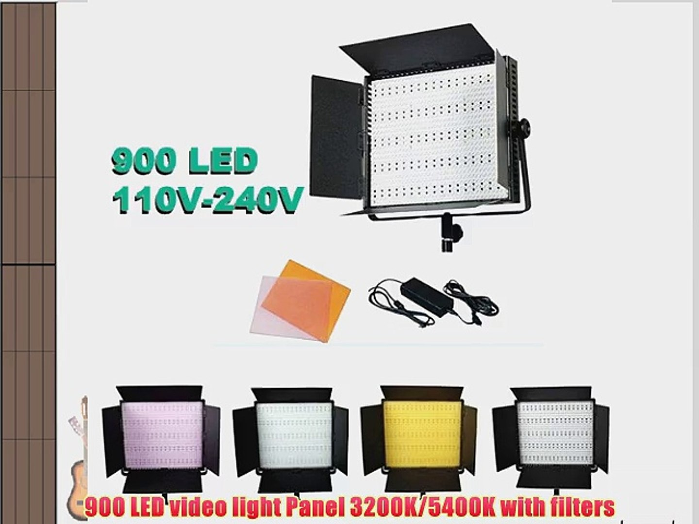 Ephoto 900 Led Dimmable Photography Video Camera Dslr 5400k