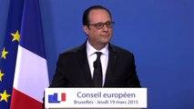 Conférence de presse lors du Conseil européen