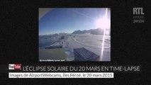 Éclipse solaire du 20 mars : le phénomène en images accélérées