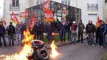 Manifestation des ouvriers de Sambre et Meuse à Maubeuge (1/3)