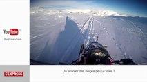 Un scooter des neige dans les airs: le zapping insolite