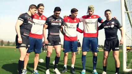 Arsenal stars take on Saracens!